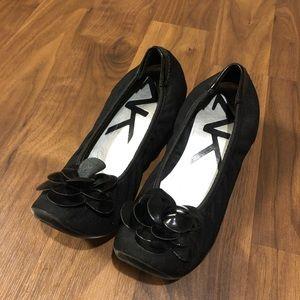 Anne Klein Sport Shoe Black Wedge Women's 9